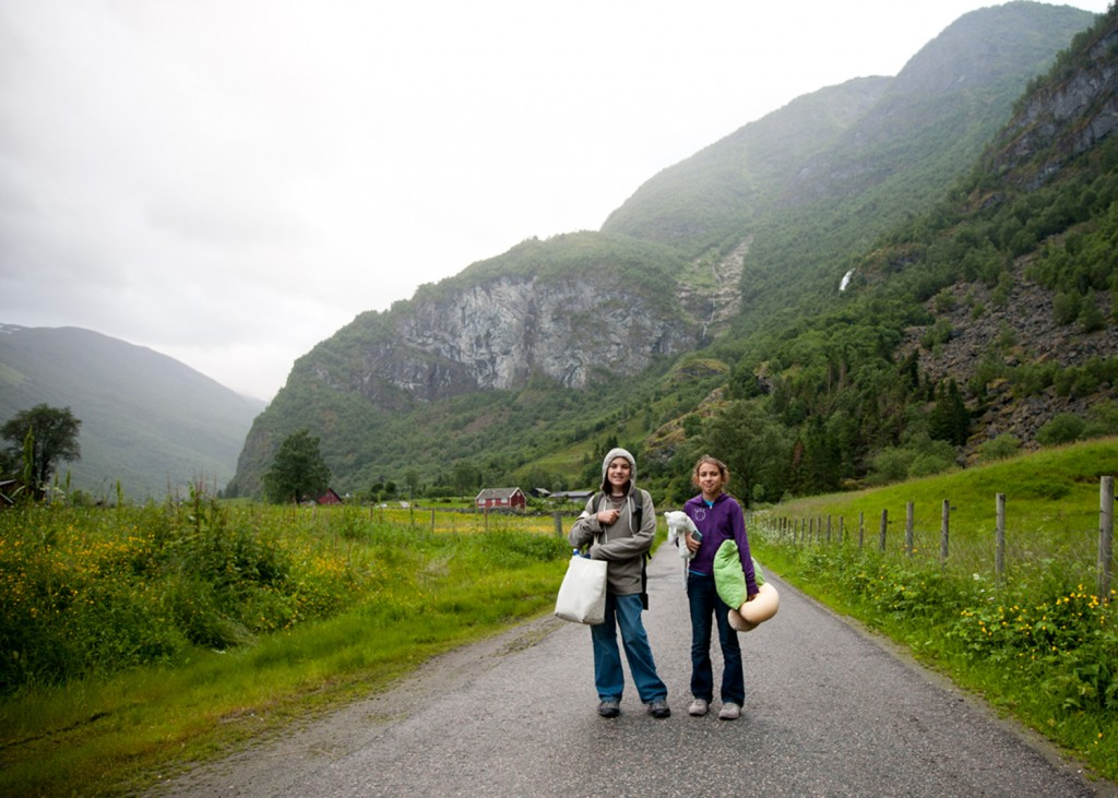 The walk to the hostel. Flam, Norway 2013